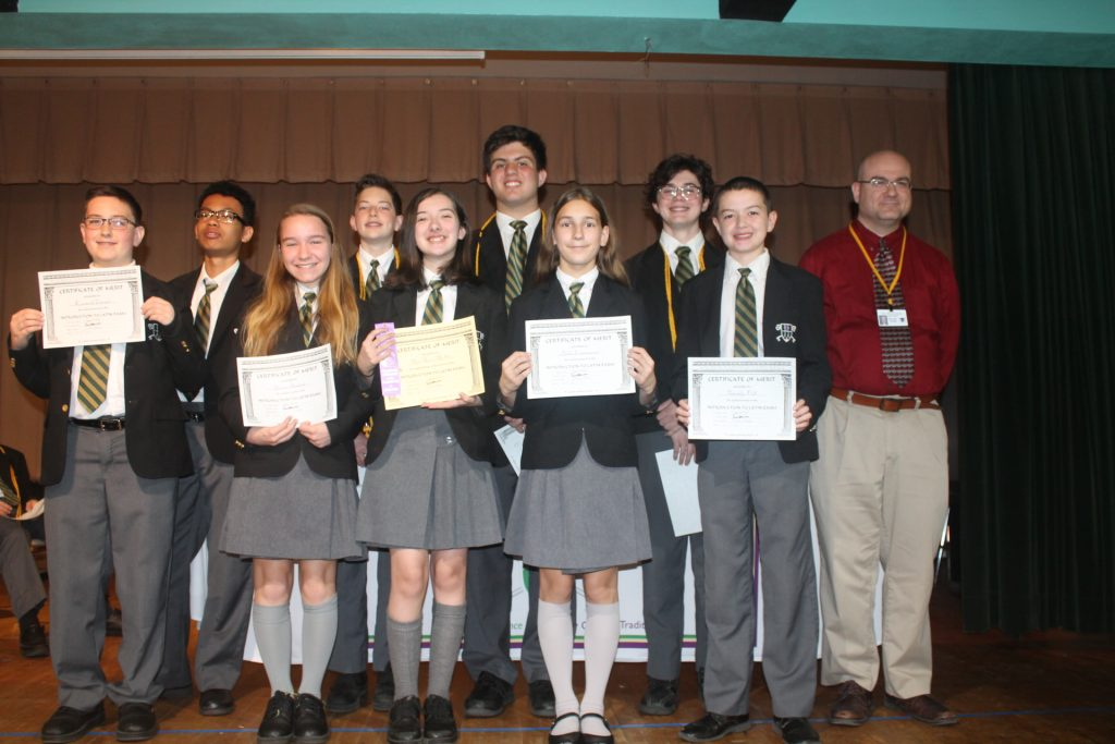 National Latin Exam Recognition at our Catholic School